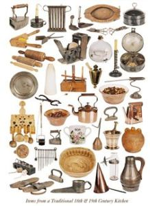 19th Century cooking utensils