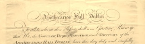 Apothecaries Certificate