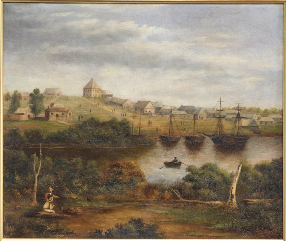 Melbourne from the South Bank, 1840 by Eleanor McGinn