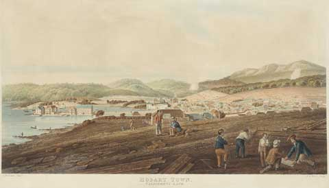 Hobart in 1830 by RG Reeve 1811-37 NMA