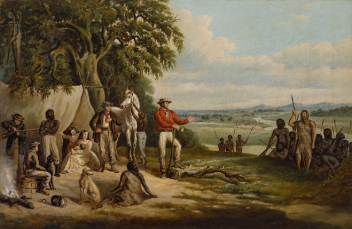 The first settlers discover Buckley by F. Woodhouse (Courtesy SLV)