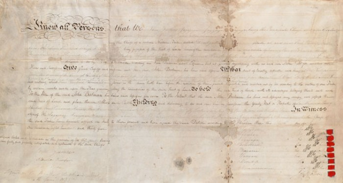 The Melbourne Deed (Courtesy SLV)