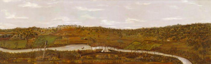 Melbourne 1836 by Reinhart Hofmann (Accession NO: H17707) (Courtesy SLV)