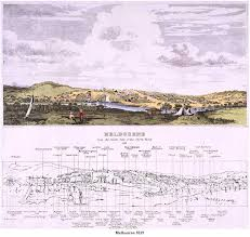 Melbourne from the South Side of the Yarra 1839, by J. Adamson, J. Carmichael, engraver (Courtesy SLV)