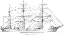 19th Century barque