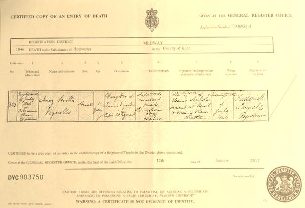 Baby Inez Death Certificate