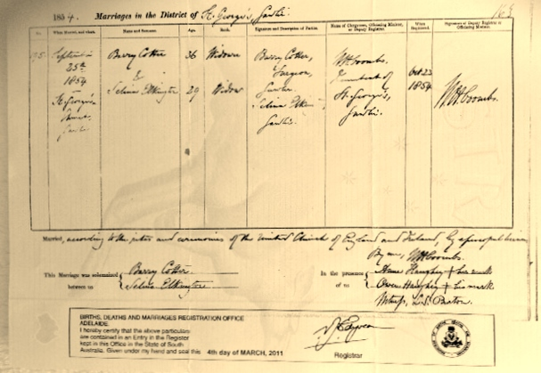 Image 9-2 barry -selina marriage certificate