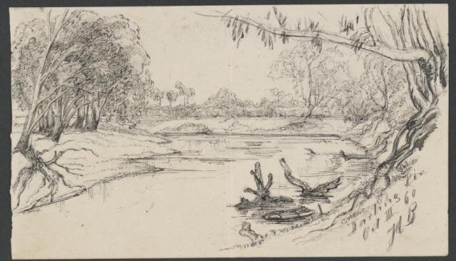 Image 9-6 sketch darling river providence paddlesteamer