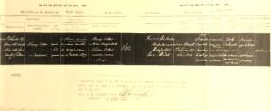 Dr Cotter's death certificate