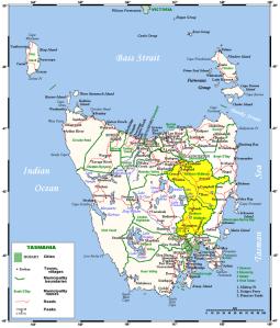 Map showing Midlands Tasmania by Berichard d'apres Kelisi