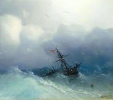 Shipwreck on Stormy Seas by Ivan Konstantinovick Aivazovsky