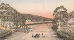 1837 The First Yarra Punt by L.W. Liardet (Courtesy SLV)